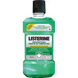 Listerine bain de bouche protection dents gencives 500ml - listérine -221856
