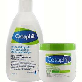 Lotion nettoyante 200ml + crème hydratante 450g promo - cetaphil -226239