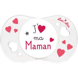 Luc et lea sucette silicone j'aime ma maman +0m - luc et lea -224405