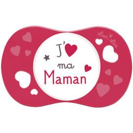 Luc et lea sucette silicone j'aime ma maman +6m - luc et lea -224403