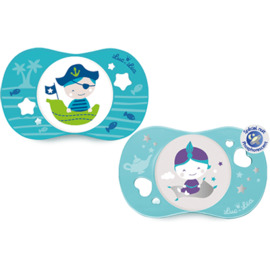 Luc et lea sucettes silicone 18mois+ bleu x2 - luc et lea -223568