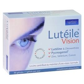 Lutéile protection des yeux (lutéine 10mg + pycnogenol 20mg) - 30.0 unites - potections des yeux et de la peau - natésis Préservation des yeux-9510