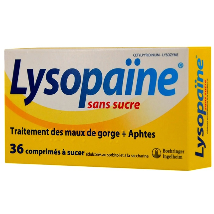 Lysopaine - 36 comprimés Boehringer ingelheim-192513