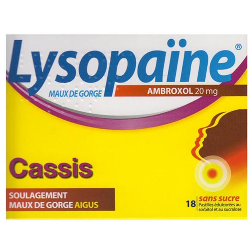 Lysopaine ambroxol cassis - 18 pastilles - boehringer ingelheim -192494