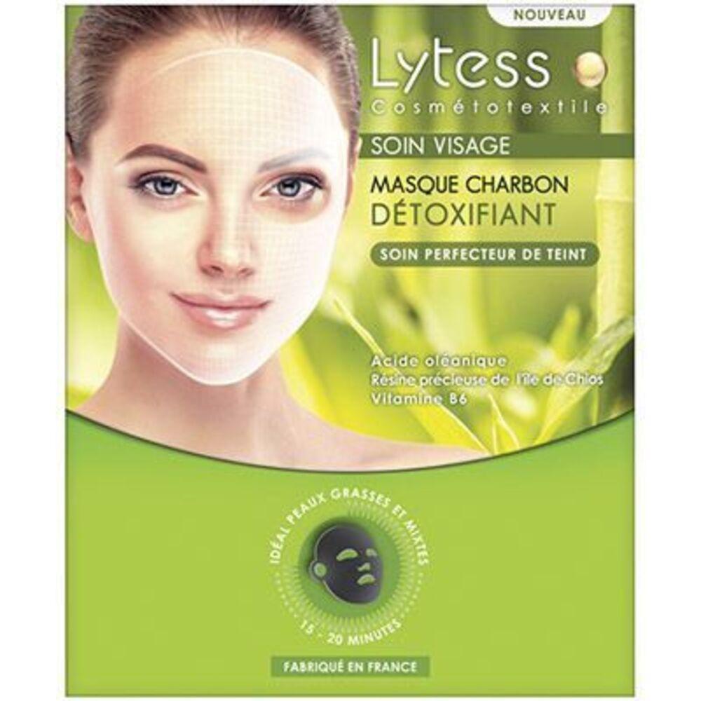 LYTESS Cosmétotextile Soin Visage Masque Charbon Détoxifiant - Lytess -219312