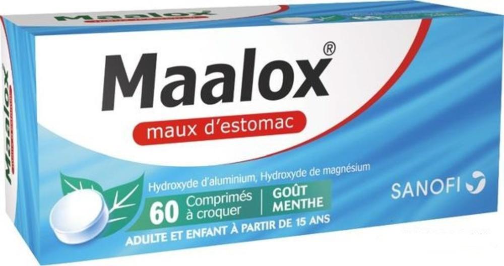 Maalox maux d'estomac - 60 comprimés - sanofi -192582