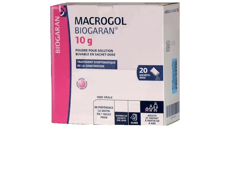 Macrogol 4000 10g - 20 sachets - 10.0 g - biogaran -193422