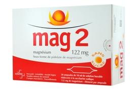 Mag 2 sans sucre 122mg - 30 ampoules x - 10.0 ml - cooper -192539