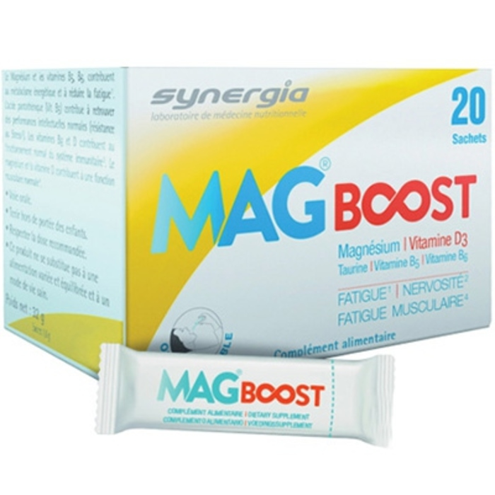 Mag boost orodispersible - 20 sachets Synergia-206617