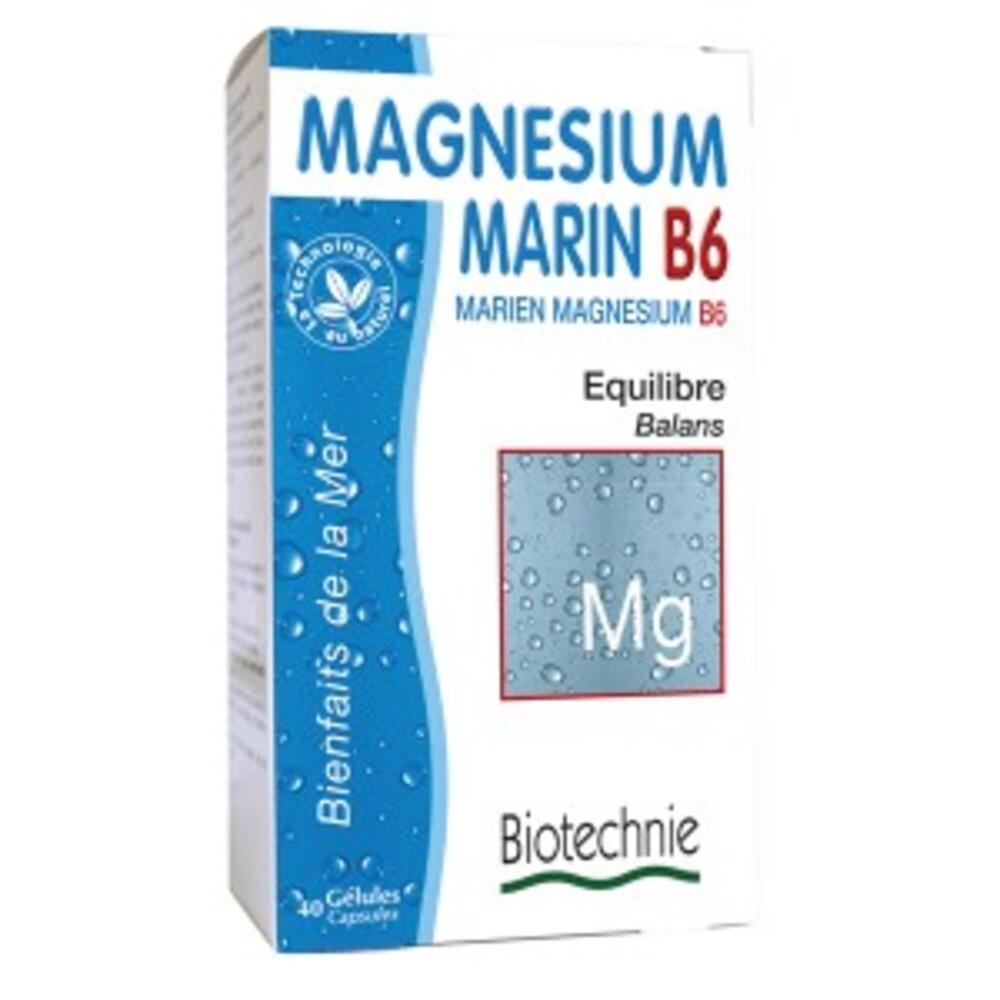 Magnésium marin b6 - 40.0 unites - equilibre - biotechnie -2786