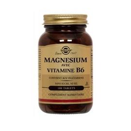 Magnésium vitamine b6 - 100.0 unites - minéraux - solgar -140963