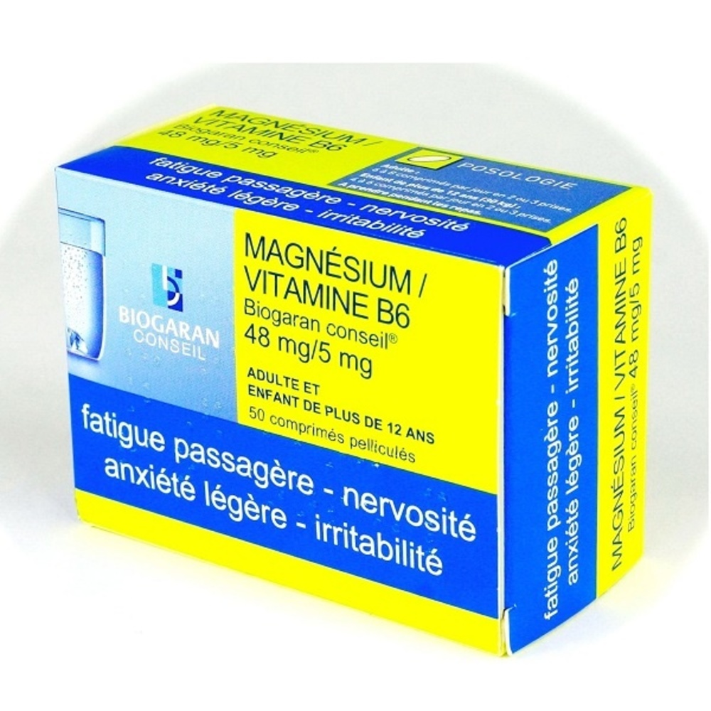 Magnesium vitamine b6  conseil - biogaran -192516