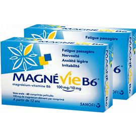 Magnévie b6 100mg/10mg - 2 x 60 comprimés - sanofi -192596
