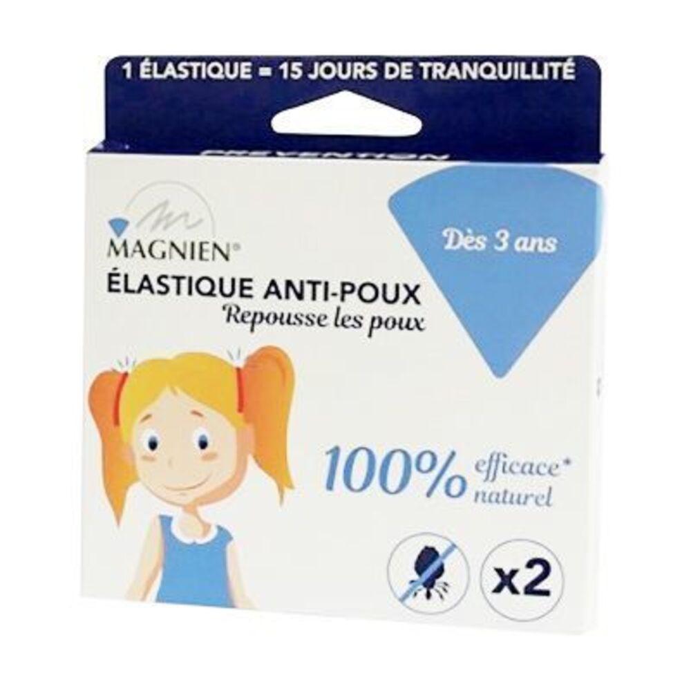 Magnien elastique anti-poux - 2 élastiques roses - magnien -222870
