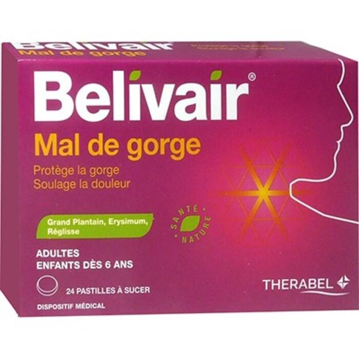 Mal de gorge - 24 pastilles Belivair-205908