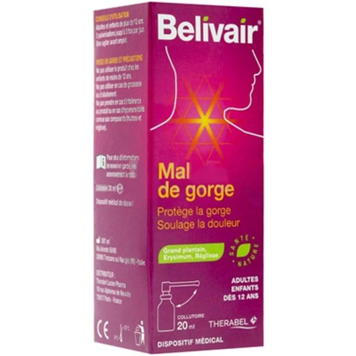 Mal de gorge collutoire - 20 ml Belivair-205907