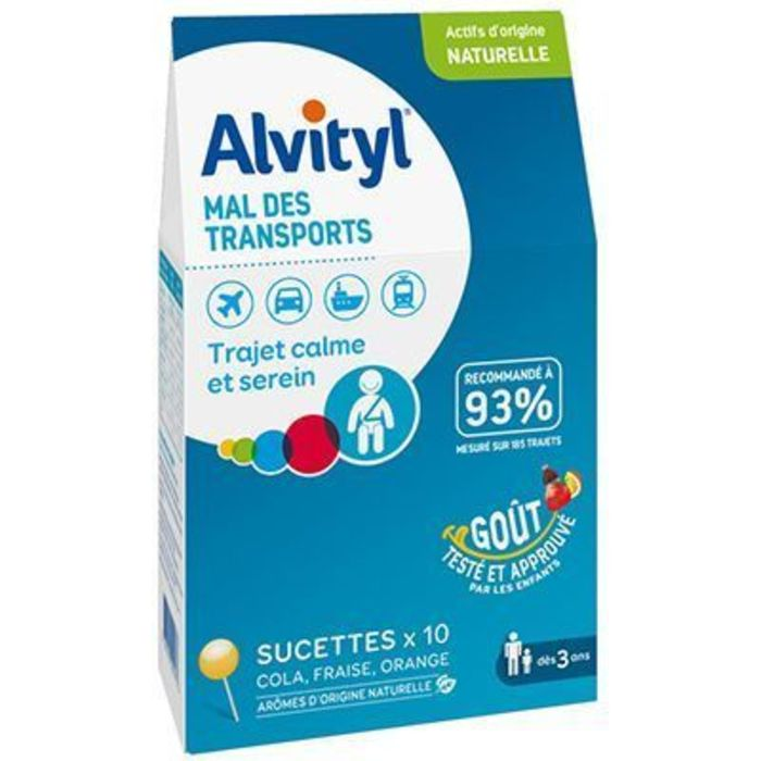 Mal des transports 10 sucettes Alvityl-227814