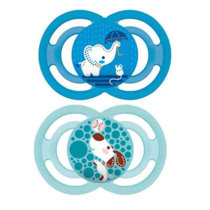 Mam sucette perfect +6mois x2 bleu animal Mam-215897