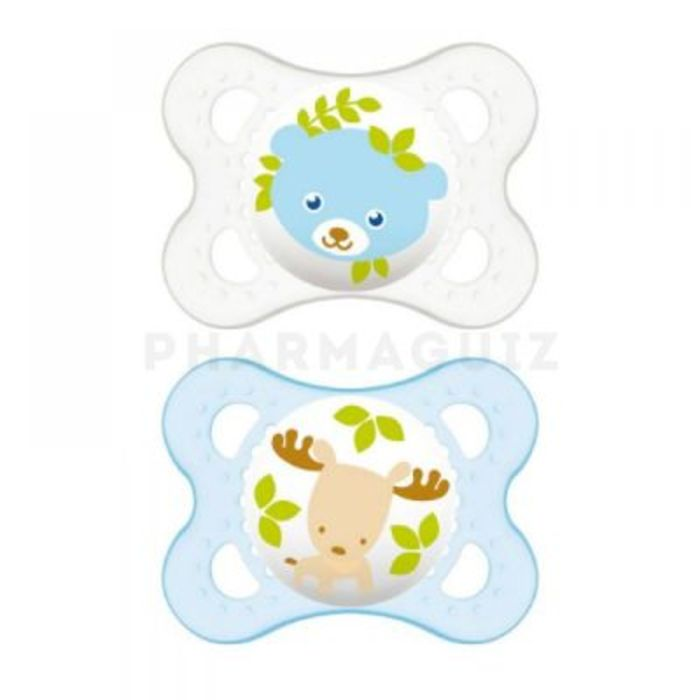Mam sucette silicone 0-6mois animaux x2 Mam-215900