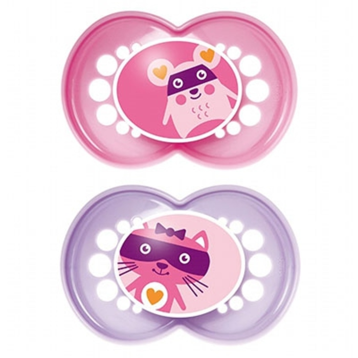 Mam sucette silicone +18mois animaux fille x2 Mam-143938