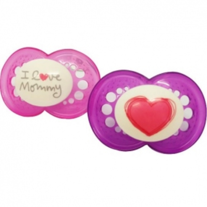 Mam sucette silicone +6mois animaux rose vert x2 Mam-199280