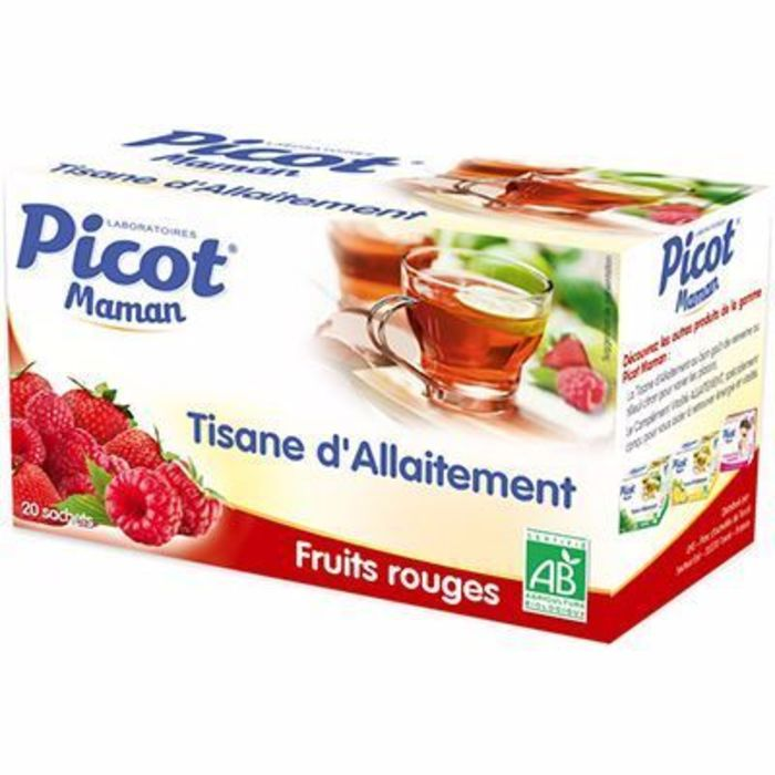 Maman tisane d'allaitement bio fruits rouges 20 sachets Picot-148254