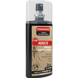 Manouka adulte spray anti-moustiques corps & visage 75ml - manouka -226361