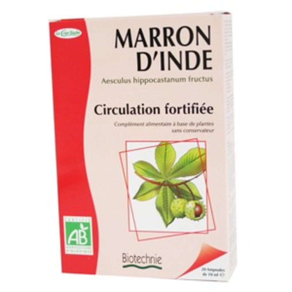 Marron d'inde bio - 20 ampoules - divers - biotechnie la cour'tisane -136599