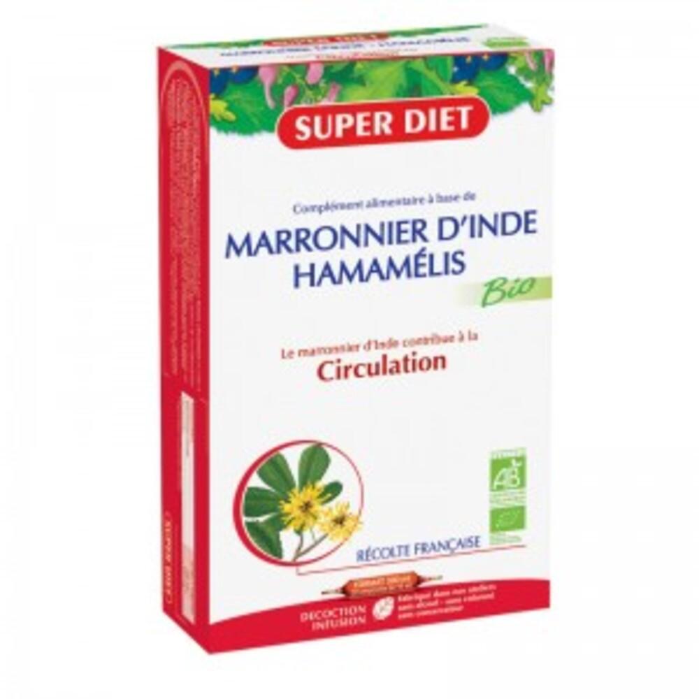 Marronnier d'inde - hamamélis ampoules bio - 20.0 unites - circulation - super diet Circulation-4457