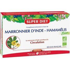 Marronnier d'inde hamamélis bio 20 ampoules - 20.0 unites - circulation - super diet Circulation-4457