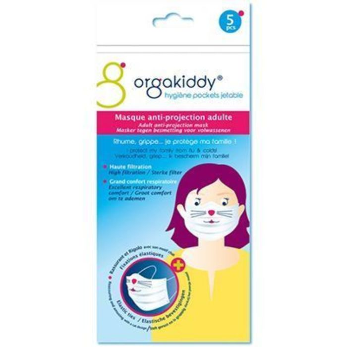 Masque anti-projection adulte chat x5 Orgakiddy-223740
