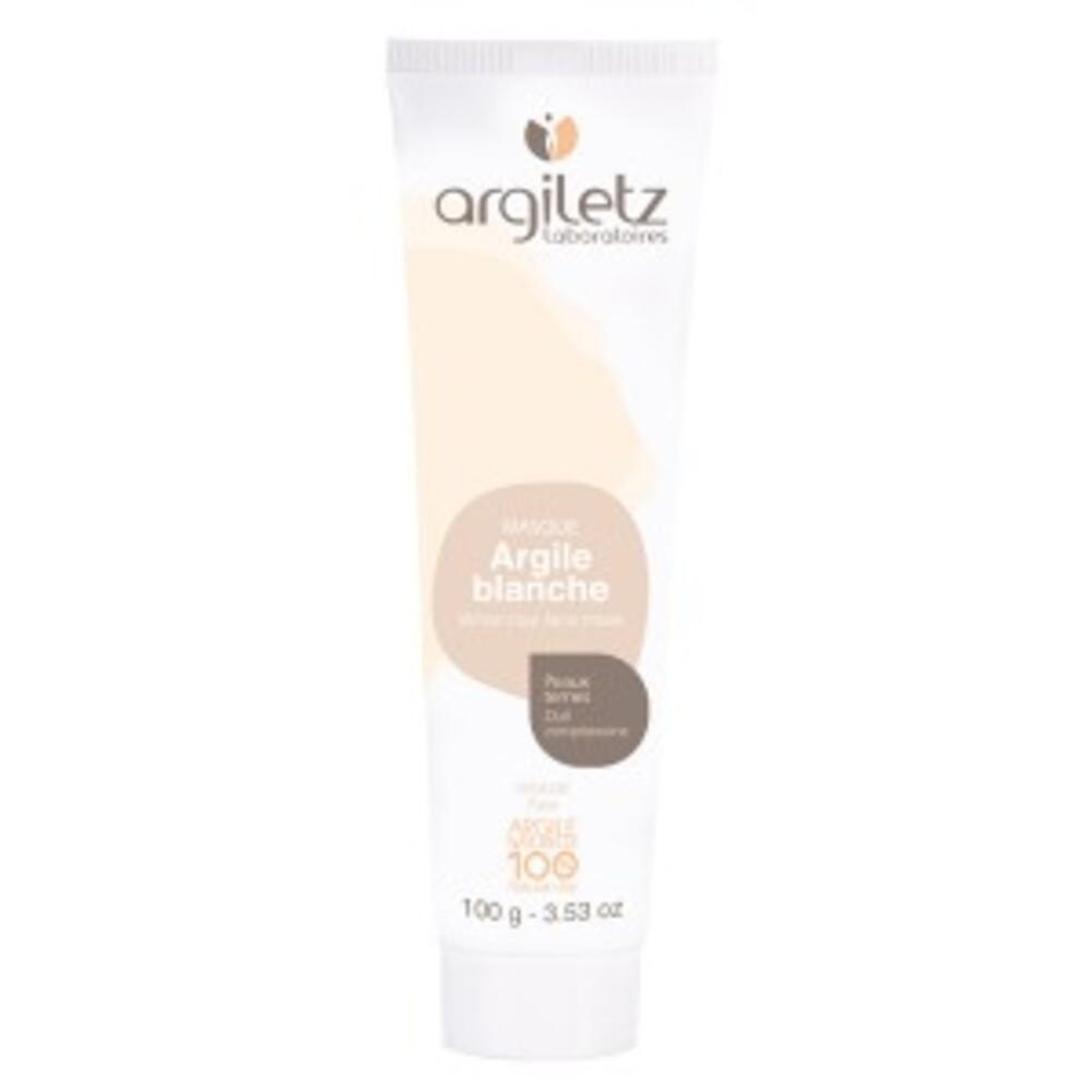 Masque argile blanche prête à l'emploi - 100.0 ml - masques en tubes - argiletz Peaux sèches, fragiles, réactives, atones-9602