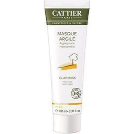 Masque argile jaune bio - 100.0 ml - hygiène corps - cattier Soin douceur tonifiant-1497