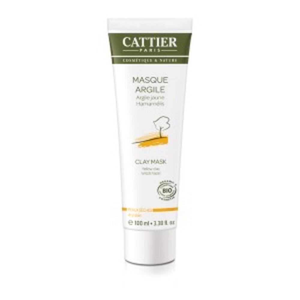 Masque argile jaune - hamamélis - 100.0 ml - hygiène corps - cattier Soin douceur tonifiant-1497