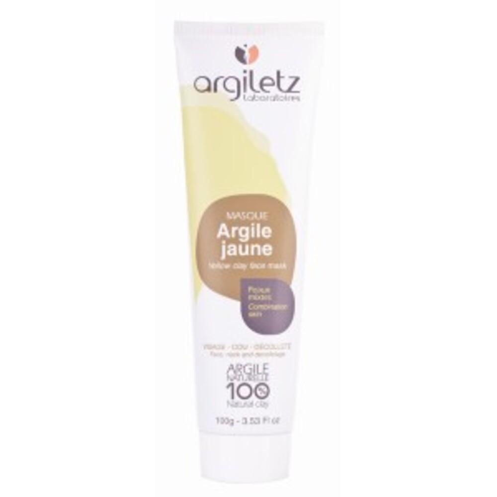 Masque argile jaune prête à l'emploi - 100.0 ml - masques en tubes - argiletz Peaux normales à tendance grasse-9605