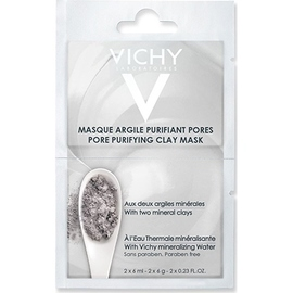 Masque argile purifiant pores - 2x6ml - vichy -205532