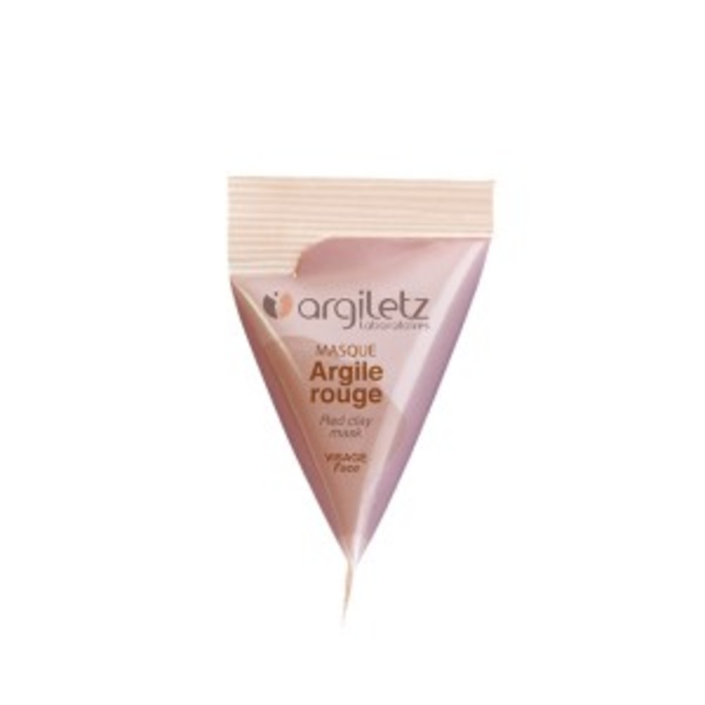 Masque argile rouge - 8 berlingots de - 15.0 ml - berlingots - argiletz -141623