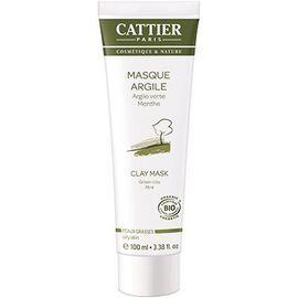 Masque argile verte bio - 100.0 ml - hygiène corps - cattier Soin douceur purifiant-1496