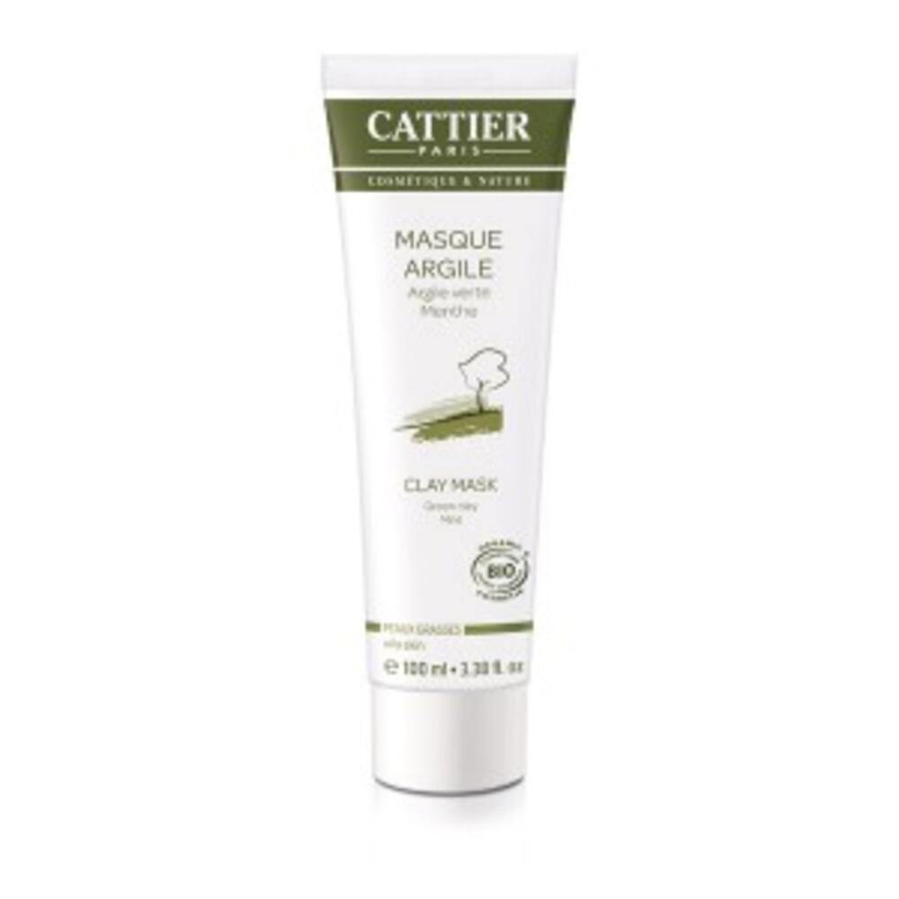 Masque argile verte - menthe poivrée - 100.0 ml - hygiène corps - cattier Soin douceur purifiant-1496