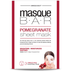 Masque bar feuille de masque à la grenade 3 masques complets - masque-bar -221613