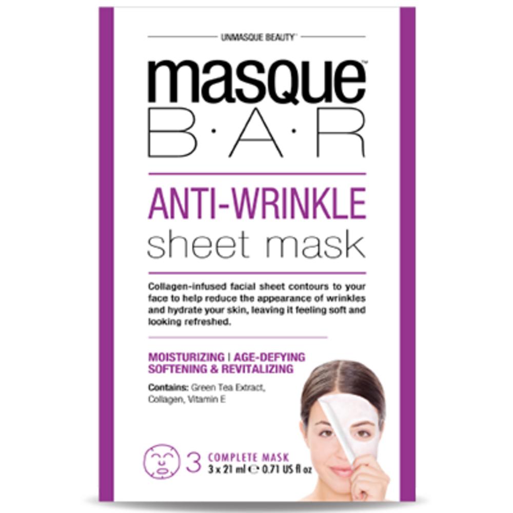 Masque bar feuille de masque anti rides 3 masques complets - masque-bar -221618