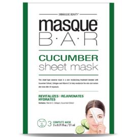 Masque bar feuille de masque au concombre 3 masques complets - masque-bar -221617