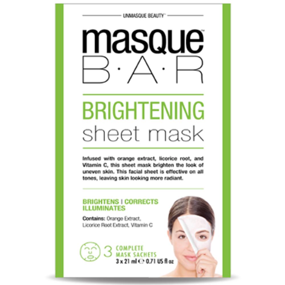 Masque bar feuille de masque éclaircissant 3 masques complets - masque-bar -221614