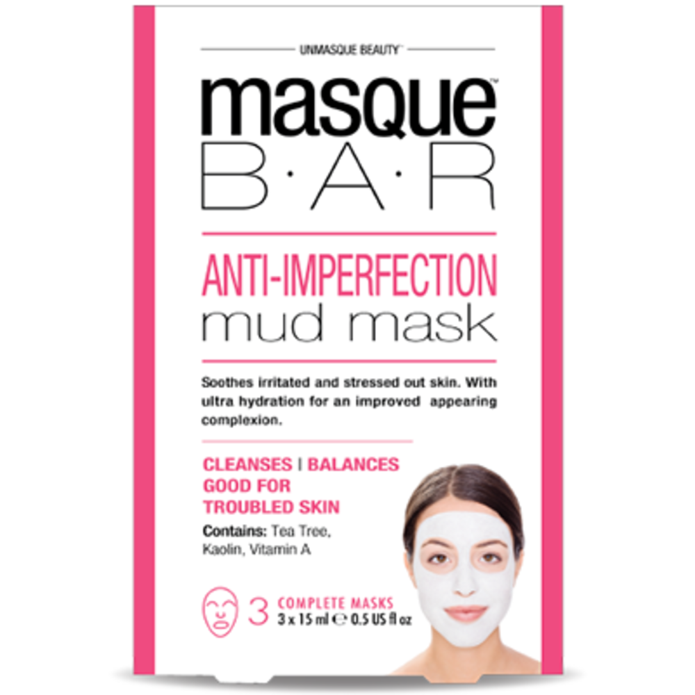 Masque bar masque de boue anti-imperfections 3 masques complets - masque-bar -221619
