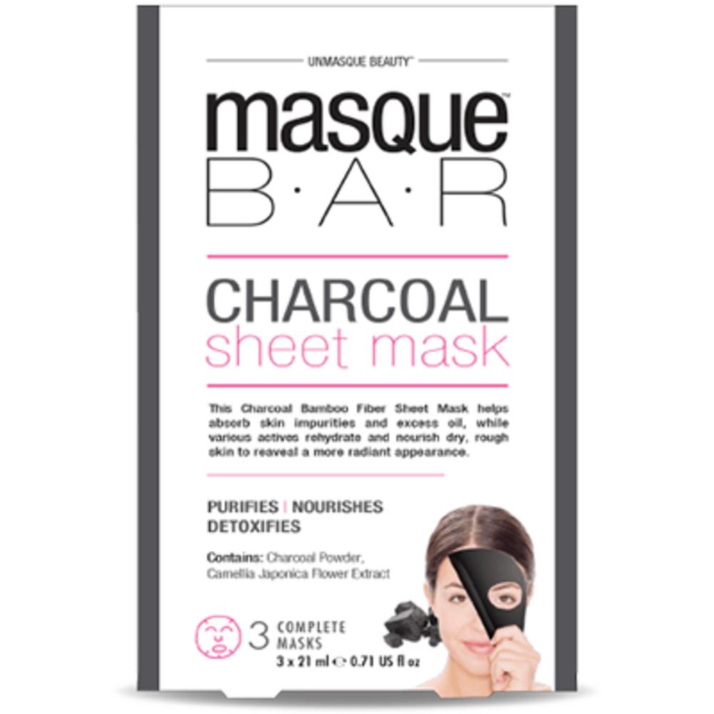Masque bar masque pelable au charbon 3 masques complets - masque-bar -221615