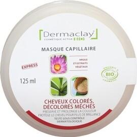 Masque capillaire cheveux colorés, décolorés,... - 125.0 ml - les masques capillaires - dermaclay -139864