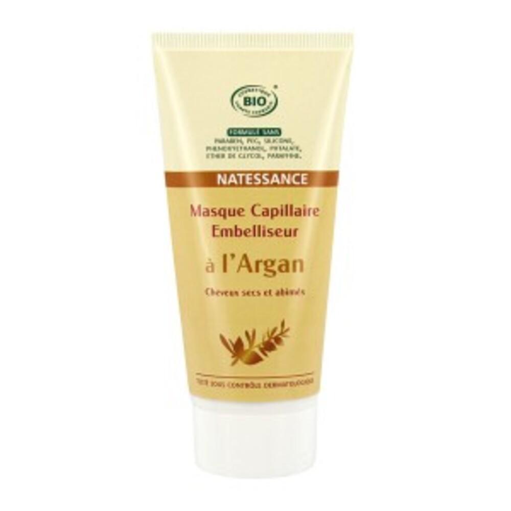 Masque capillaire embelliseur argan bio - 150.0 ml - argan bio - natessance Cheveux secs et abîmés-8273