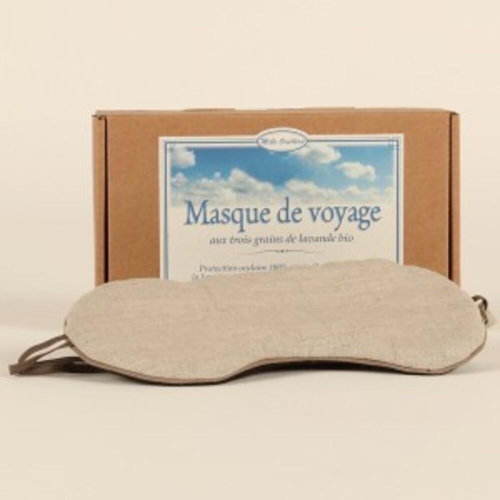 Masque de voyage aux 3 grains de lavande bio - divers - mille oreillers -189551
