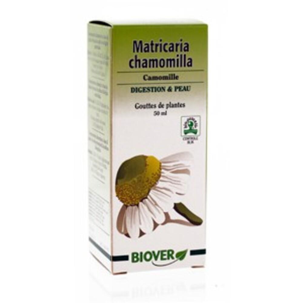Matricaria chamomilla (camomille) bio - 50.0 ml - gouttes de plantes - teintures mères - biover Facilite la digestion & purifie la peau-8982