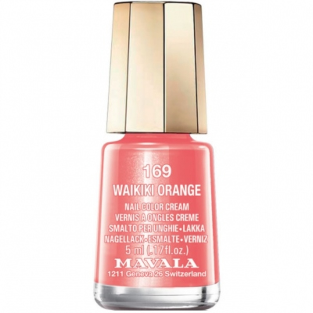 Mavala vernis waikiki orange 169 - 5.0 ml - mavala -147169